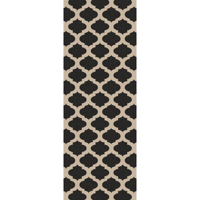 Modern Trellis Hand-Woven Ink Area Rug Rug Size: Runner 2'3