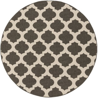Odell Black Indoor/Outdoor Rug Rug size: Round 89