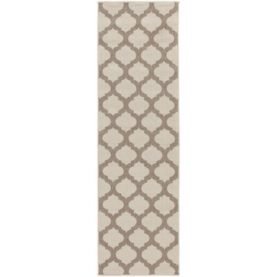 Odell Taupe Indoor/Outdoor Area Rug Rug size: Runner 23 x 79