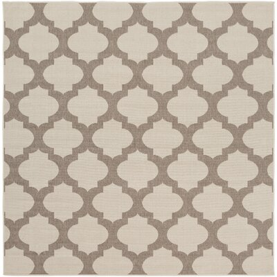 Odell Taupe Indoor/Outdoor Area Rug Rug size: Square 73