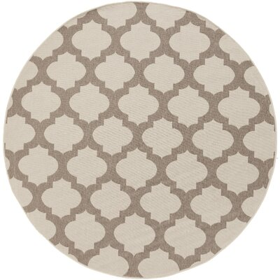 Odell Taupe Rug Rug size: Round 8'9