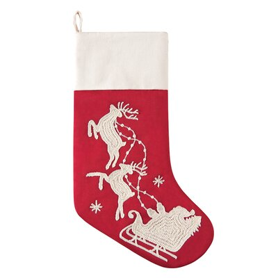 Flying Sleigh I Stocking