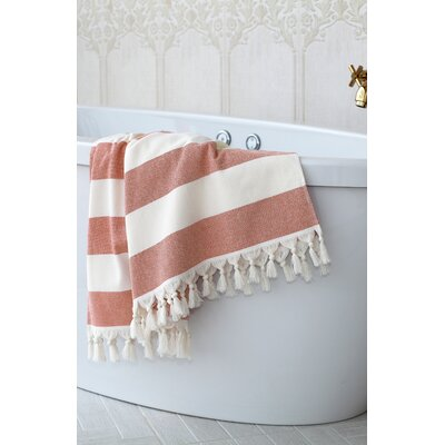 Jessa Fouta Towel Color: Red