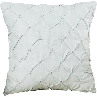 Alda Pintucked Pillow Cover Color: Blue
