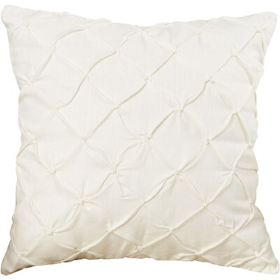 Alda Pintucked Pillow Cover Color: Off White