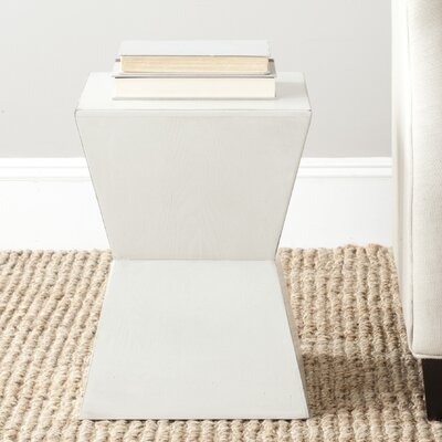Mcarthur End Table Color: White