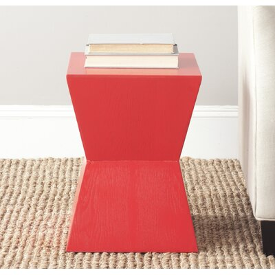 Mcarthur End Table Color: Hot Red