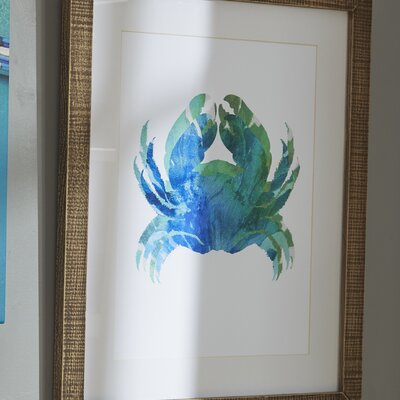 Crab Tie-Dyed Framed Print