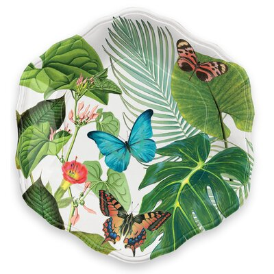 Rainforest Butterflies Melamine Salad Plate