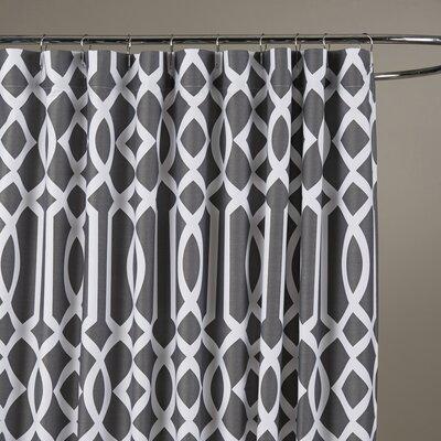 Irene Shower Curtain Color: Charcoal