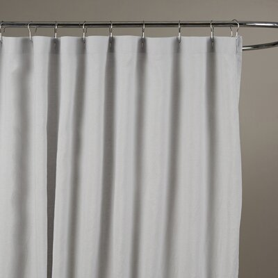 Reva Belgian Linen Shower Curtain Color: Silver