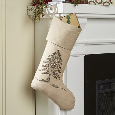 Sapin De Noel Christmas Tree Stocking Color: Silver