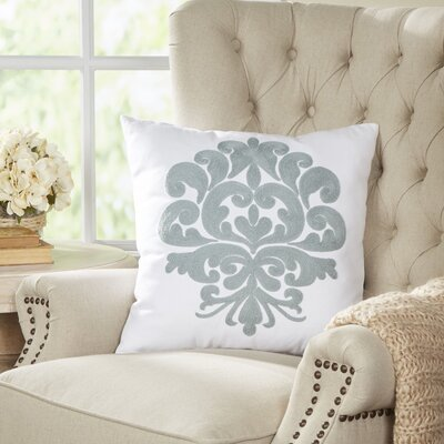 Berthold Medallion Pillow Color: Chambray