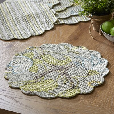 Wrentham Round Quilted Placemats (Set of 6)