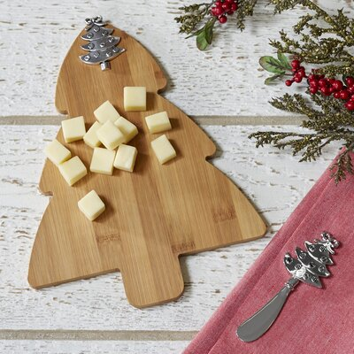 Christmas Tree Cutting Board & Spreader Set