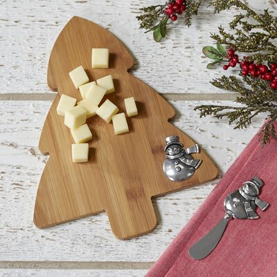 Snowman Tree Cutting Board & Spreader Set