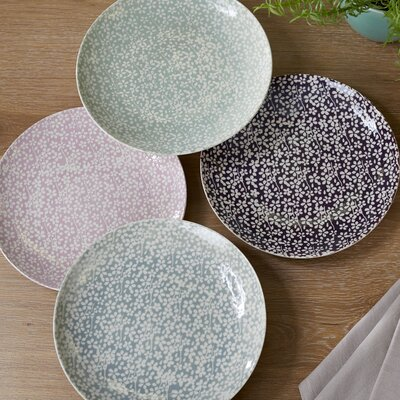 Queen Anne's Lace Ceramic Dinner Plates