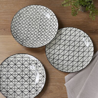 Birch Lane Cicero 3-Piece Ceramic Dinner plate Set