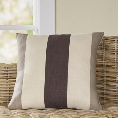Charlene Pillow Size: 22 H x 22 W x 4 D, Color: Ivory/Gray/Black, Filler: Down
