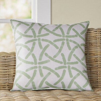 Loretta Pillow Size: 18 H x 18 W x 4 D, Color: Green