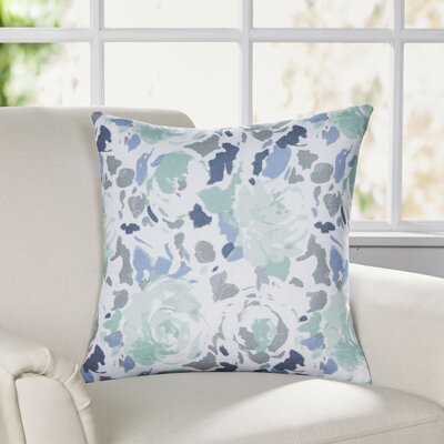 Bloomington Throw Pillow Size: 22 H x 22 W x 4 D, Color: Blue/Green