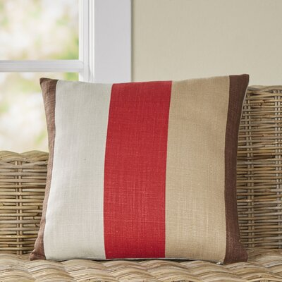 Charlene Pillow Size: 22 H x 22 W x 4 D, Color: Red/Brown/Tan/Beige, Filler: Polyester