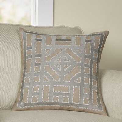 Mattea Linen Throw Pillow Cover Size: 22 H x 22 W x 1 D, Color: BrownMetallic