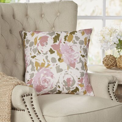 Bloomington Throw Pillow Size: 18 H x 18 W x 4 D, Color: Brown/Pink