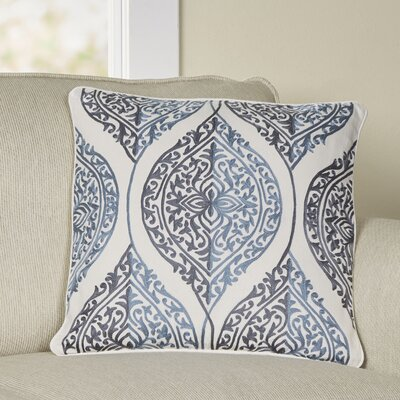 Eagan Pillow Cover Size: 22 H x 22 W x 1 D, Color: Blue