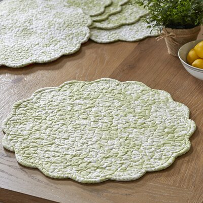 Stannis Round Quilted Placemats (Set of 6)