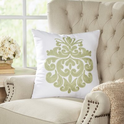 Berthold Medallion Pillow Color: Cucumber