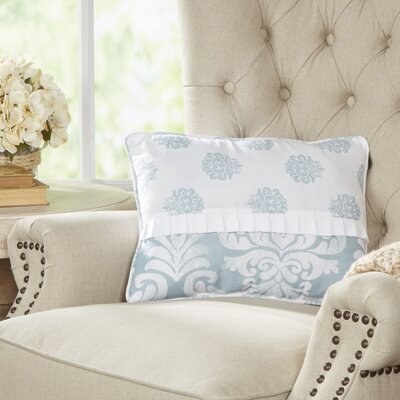 Berthold Wide Lumbar Pillow Color: Chambray