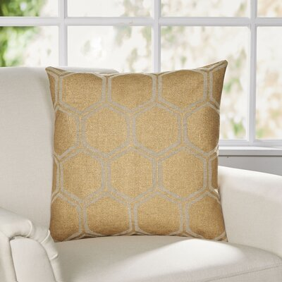 Larissa Pillow Cover Size: 18 H x 18 W x 0.25 D, Color: MetallicBrown