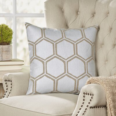 Larissa Pillow Cover Size: 20 H x 20 W x 1 D, Color: GrayBrown