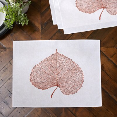 Pressed Leaf Placemats Color: Rust
