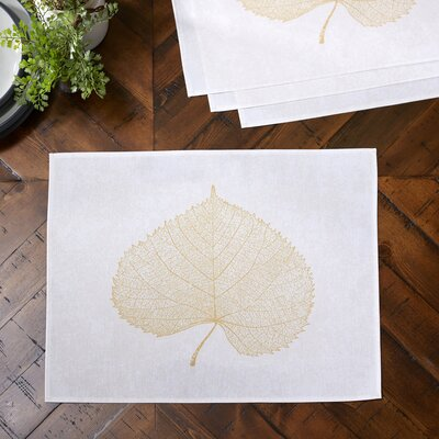 Pressed Leaf Placemats Color: Gold