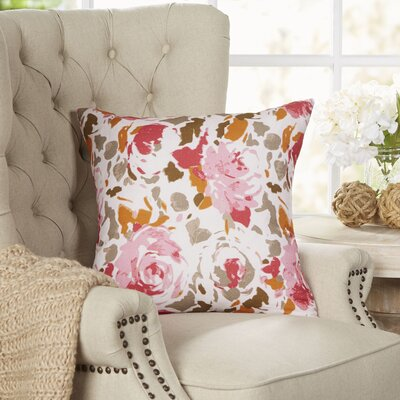 Bloomington Throw Pillow Size: 20 H x 20 W x 4 D, Color: Red/Pink