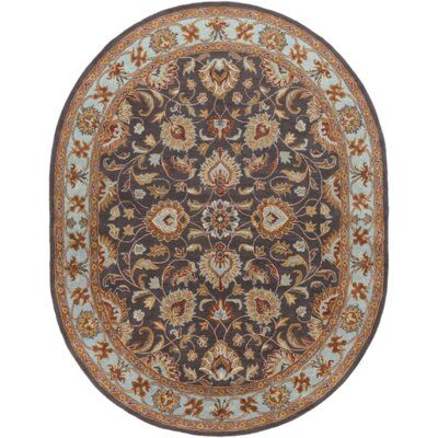 Arden Pewter Rug Rug Size: Oval 8 x 10