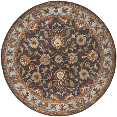 Arden Pewter Handwoven Wool Area Rug Rug Size: Round 6