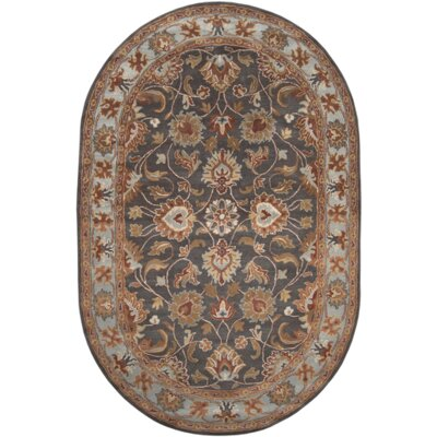Arden Pewter Rug Rug Size: Oval 6 x 9