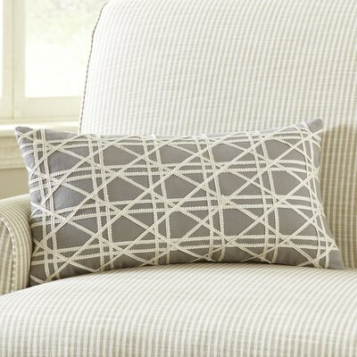 Emma Jute Lumbar Pillow Cover Color: Stone