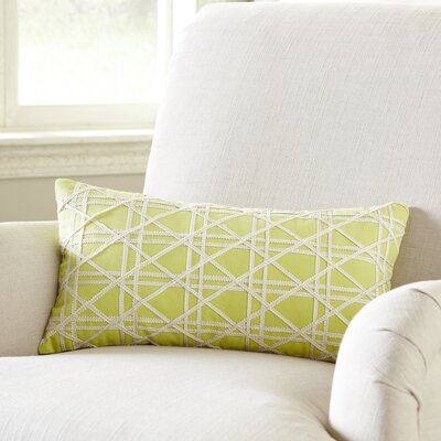 Emma Jute Lumbar Pillow Cover Color: Lemongrass
