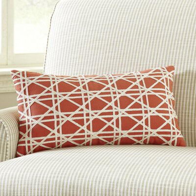 Emma Jute Lumbar Pillow Cover Color: Ginger