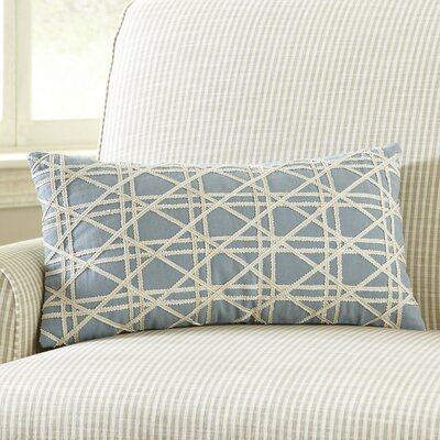 Emma Jute Lumbar Pillow Cover Color: Sky