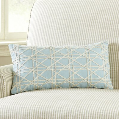 Emma Jute Lumbar Pillow Cover Color: Stratosphere