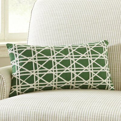Emma Jute Lumbar Pillow Cover Color: Moss