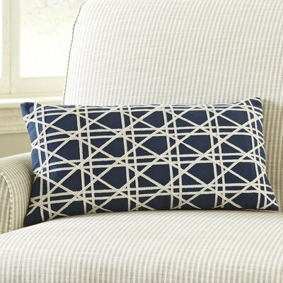 Emma Jute Lumbar Pillow Cover Color: Navy