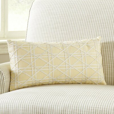 Emma Jute Lumbar Pillow Cover Color: Yellow