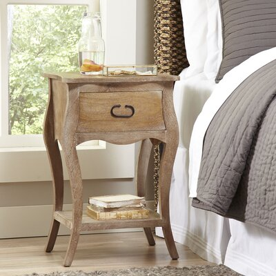 Leena 1 Drawer Nightstand Color: Natural