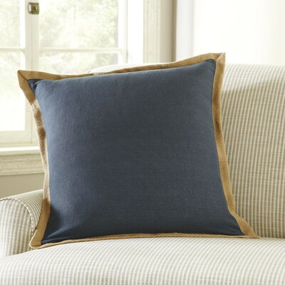 Shayna Jute Trim Pillow Cover Color: Pewter